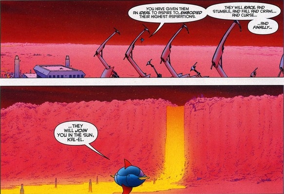 These words were used in the first film. Hopefully, they'll mean something in the last. From All-Star Superman (2008) by Grant Morrison and Frank Quitely. I think it's Issue 12?