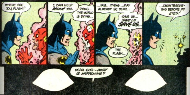 From Crisis on Infinite Earths #2 (1985) by Marv Wolfman and George Perez
