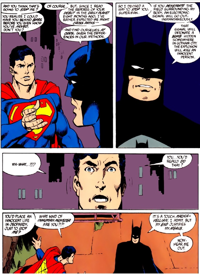 From Man of Steel #3 (1986). Written and penciled by John Byrne.